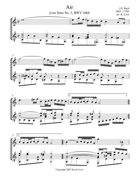 Air (Flute and Guitar) - Score and Parts