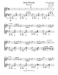 Julia Florida - Barcarola (Flute and Guitar) - Score and Parts