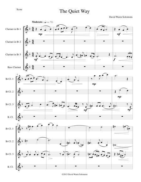 The Quiet Way for clarinet quartet