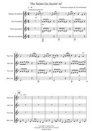 The Saints Go Jazzin' In for Saxophone Quartet