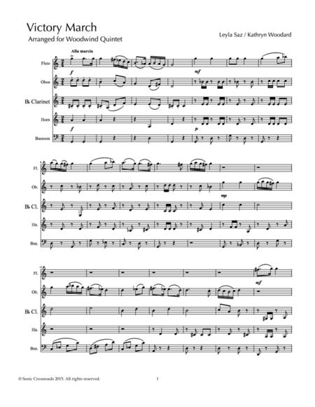 Victory March (woodwind quintet)