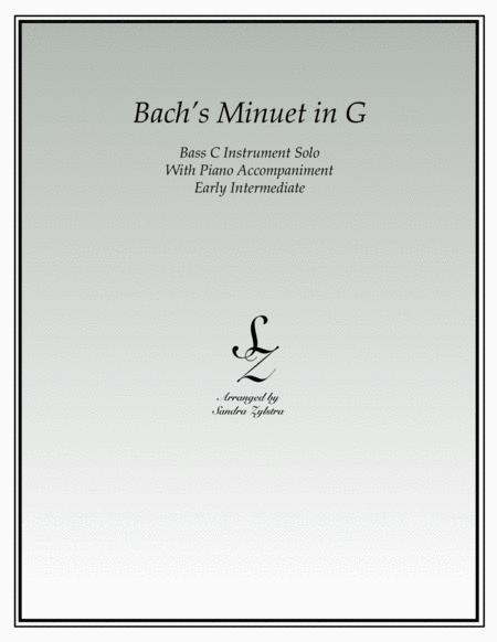 Bach's Minuet In G (bass C instrument solo)