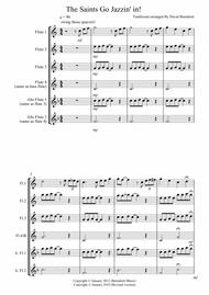 The Saints Go Jazzin' In for Flute Quartet