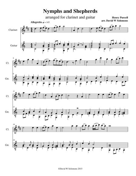 Nymphs and shepherds for clarinet and guitar