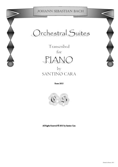 J.S.Bach - Five Orchestral Suites - Piano solo