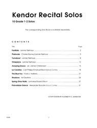 Kendor Recital Solos - Tenor Saxophone (Piano Accompaniment Book Only)