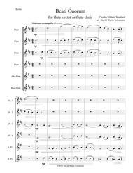 Beati Quorum Via for flute sextet or flute choir