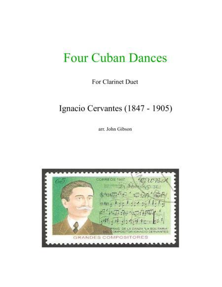 4 Cuban Dances by Cervantes for clarinet duet