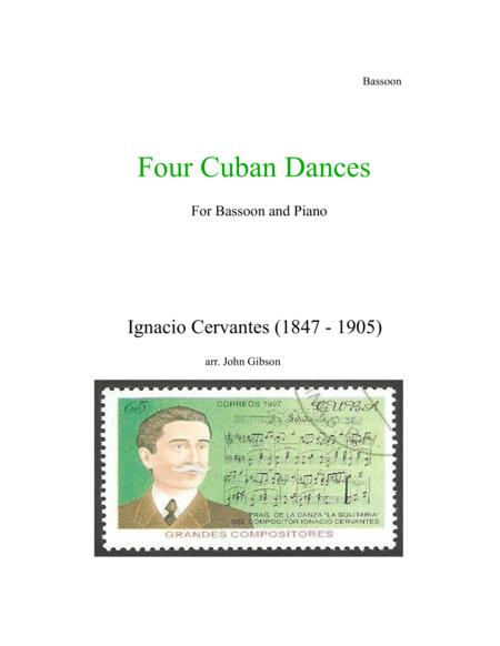 4 Cuban Dances by Cervantes for Bassoon and Piano