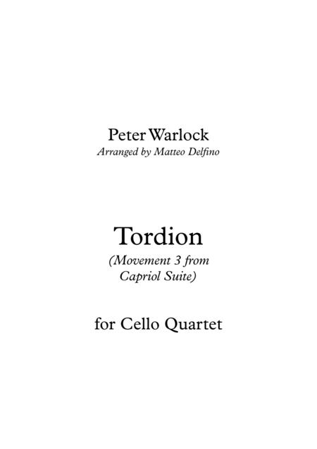 Tordion (Movement 3 from Capriol Suite) [Cello Quartet]