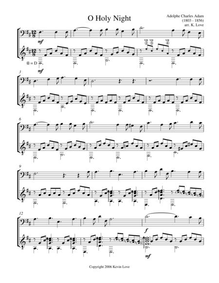 O Holy Night (Cello and Guitar) - Score and Parts
