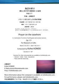 Prayer on the seashore ~In memoriam of victims of the earthquake and the nuclear reactors op.121a  (Original version for solo bassoon or solo cello )