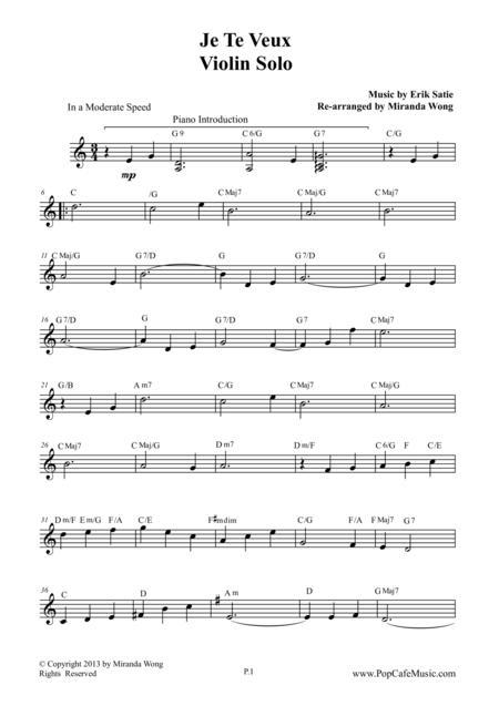 Je Te Veux - Wedding Music for Violin & Piano (Romantic Pop Version)