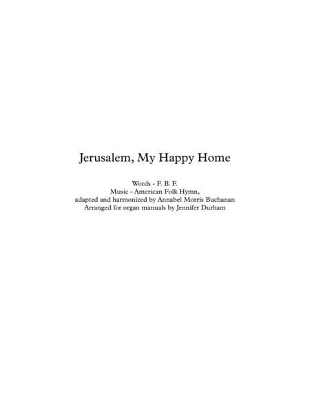 Jerusalem, My Happy Home