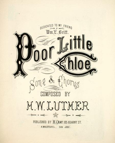 Poor Little Chloe. Song & Chorus