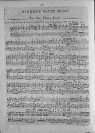 Handel's Water Music. For the Piano Forte