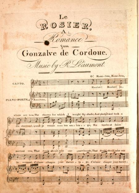 Le Rosier, A Romance, from Gonzalve de Cordoue