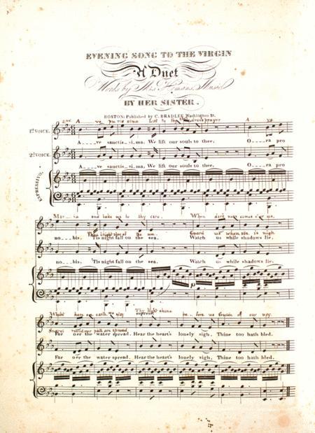 Evening Hymn to the Virgin. A Duett