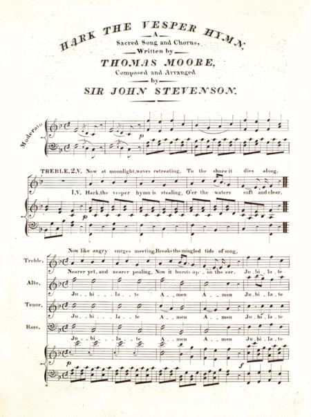 Hark the Vesper Hymn. A Sacred Song and Chorus