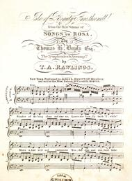 Isle of Beauty Fare Thee Well! From the first Volume of Songs to Rosa