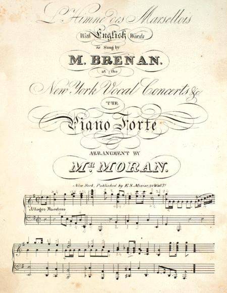 Preview L'Himne Des Marsellois By Mr  Moran (LV 1881) - Sheet Music Plus