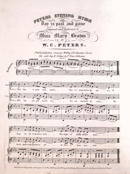Peter's Evening Hymn. The Day is Past and Gone