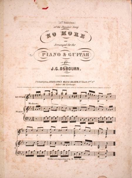 3rd Edition of the Popular Song No More