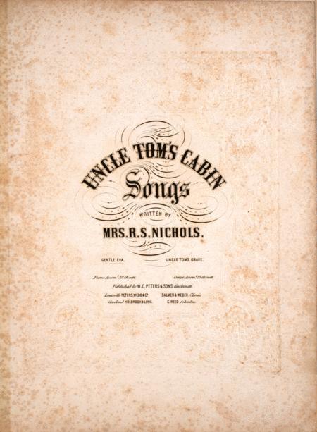 Uncle Tom's Cabin. Songs. Gentle Eva