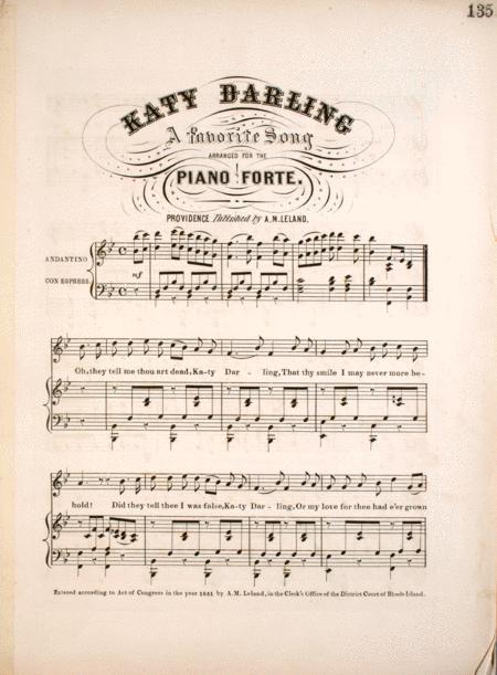 Katy Darling. A Favorite Song