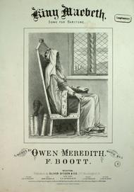 King Macbeth. Song for Baritone