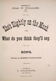 She's Slighty on the Mash, or, What Do You Think They'll Say? Song
