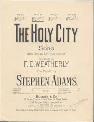 The Holy City. Song With Organ Accompaniment