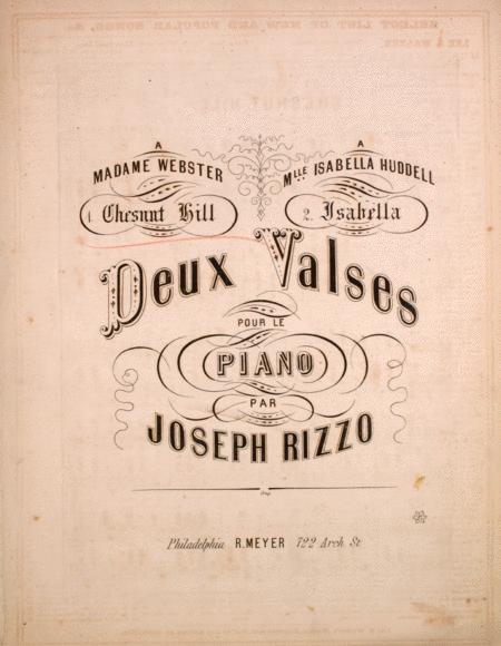 Deux Valses Pour le Piano