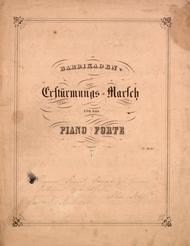 Ersturmungs Marsch fur das Piano Forte