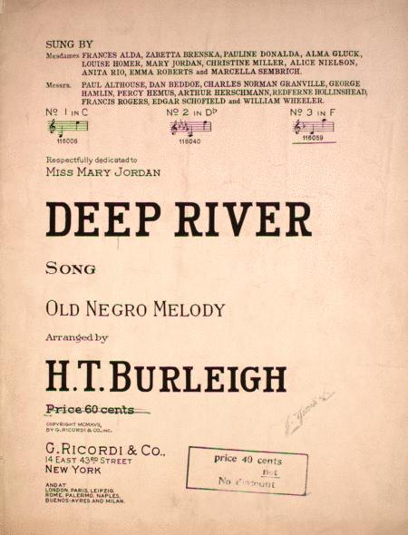 Deep River. Song