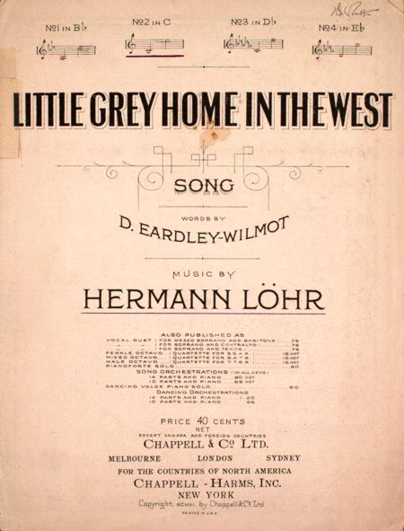 Little Grey Home in the West. Song
