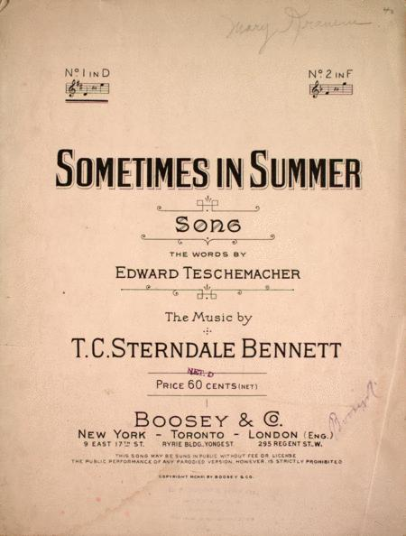 Sometimes in Summer. Song