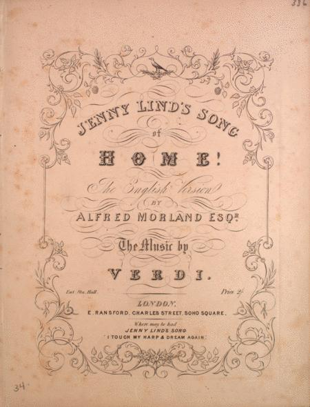 Jenny Lind's Song of Home