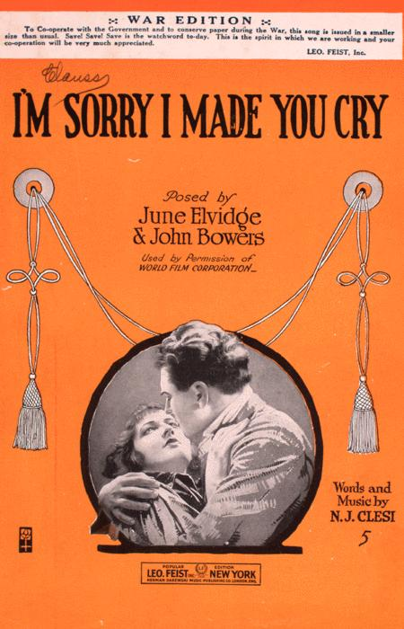 Im Sorry I Made You Cry By By N.J. Clesi - Digital Sheet Music For - Download & Print LV.9079