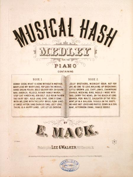 Musical Hash. Medley for the Piano
