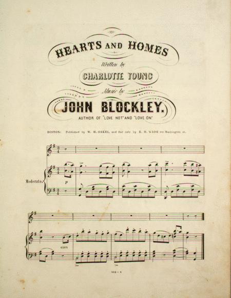 Hearts and Homes. A Ballad