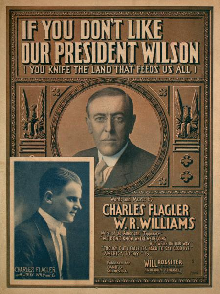 If You Don't Like Our President Wilson (You Knife the Land That Feeds Us All)