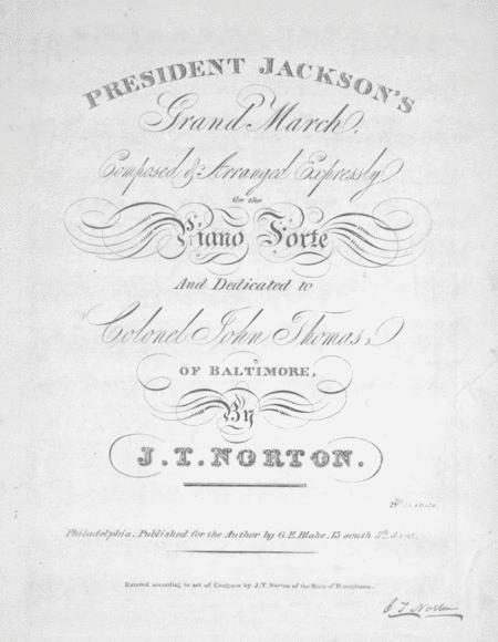 President Jackson's Grand March