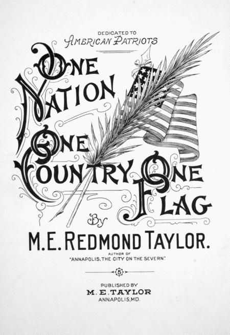 One Nation One Country One Flag