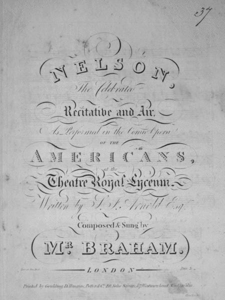 Nelson, The Celebrated Recitative and Air