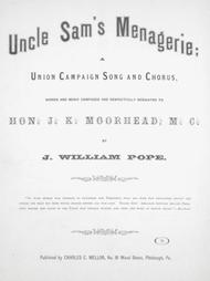 Uncle Sam's Menagerie; Union Campaign Song and Chorus