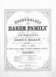 Songs & Glees of the Baker Family of New Hampshire
