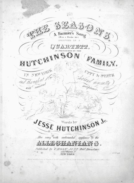 The Seasons. A Farmer's Song (From a Popular Air)