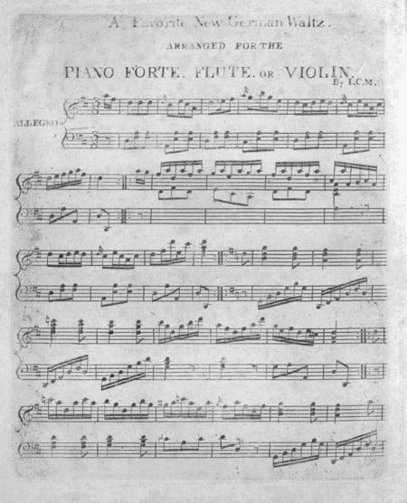 (1) A Favorite New German Waltz arranged for the Piano Forte, Flute, or Violin; (2) Admiral Nelson's March