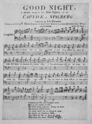 Good Night. A Favorite Song in the New Opera of the Captive of Spilberg